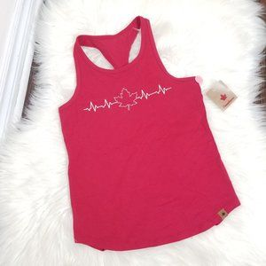 Canadiana | Red Maple Leaf Heartbeat Graphic Tank
